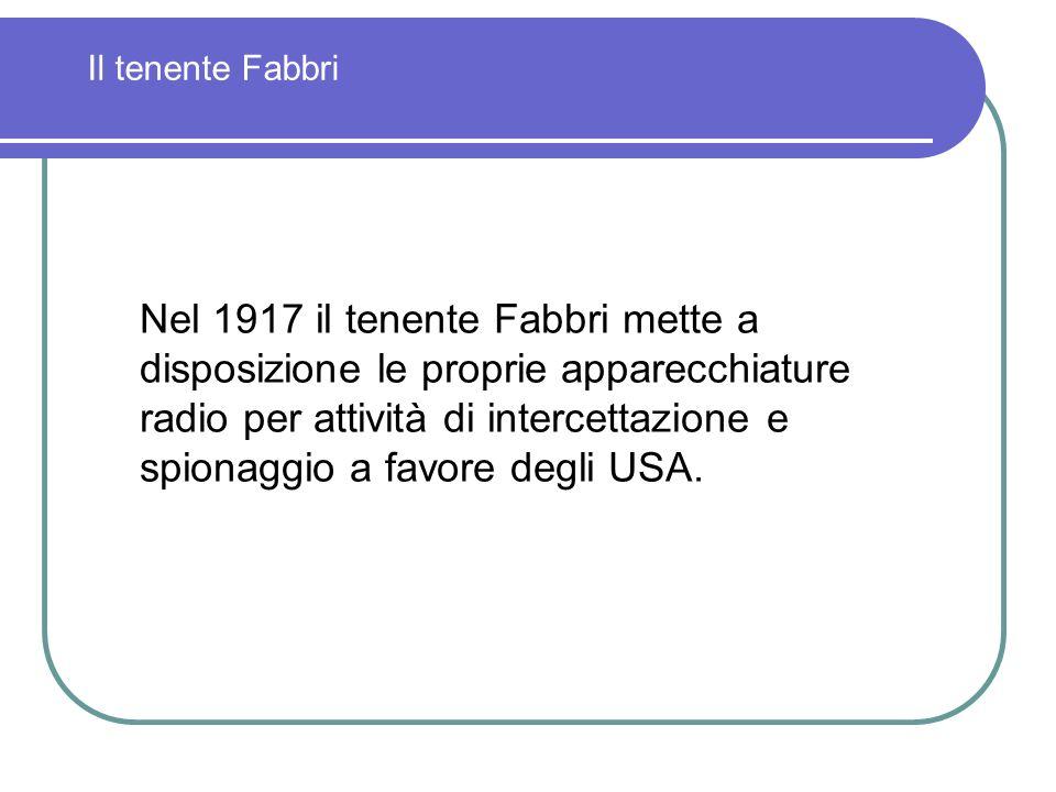 Il tenente Fabbri
