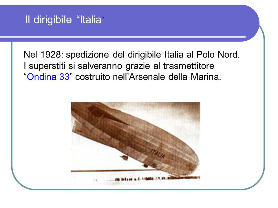 Il dirigibile Italia