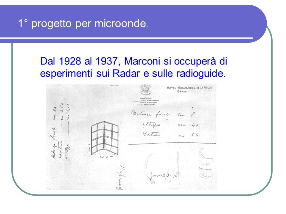 1° progetto per microonde.
