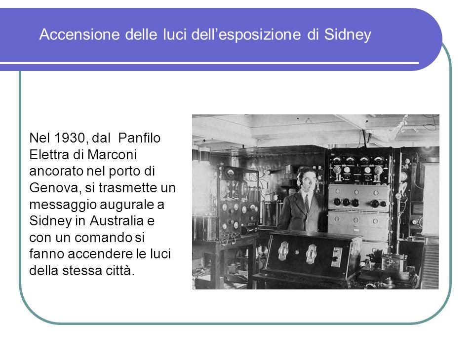 Accensione delle luci dell'esposizione di Sidney