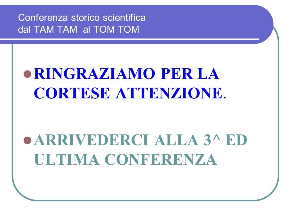 Conferenza storico scientifica dal TAM TAM al TOM TOM