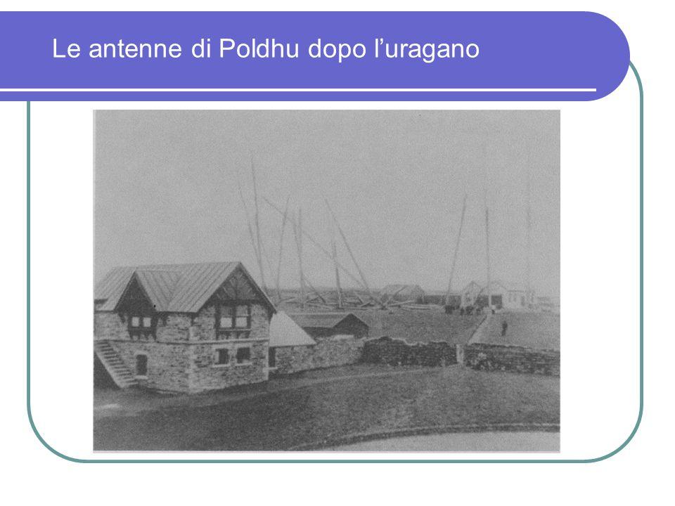 Le antenne di Poldhu dopo l'uragano
