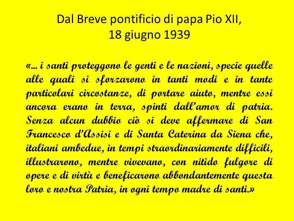 Dal Breve pontificio di papa Pio XII,
