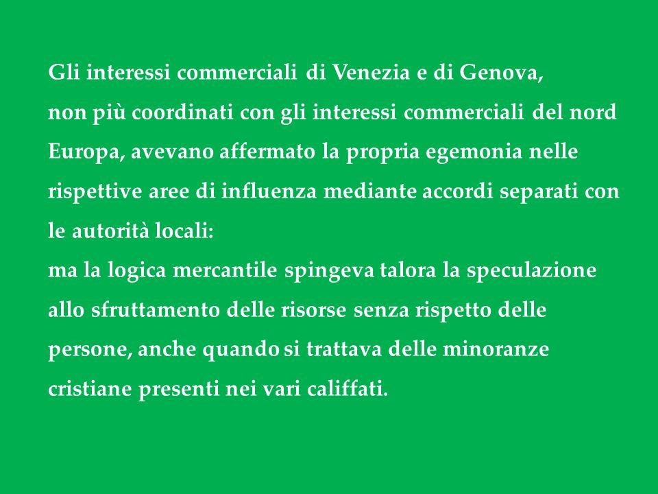 Gli interessi commerciali di Venezia e di Genova,