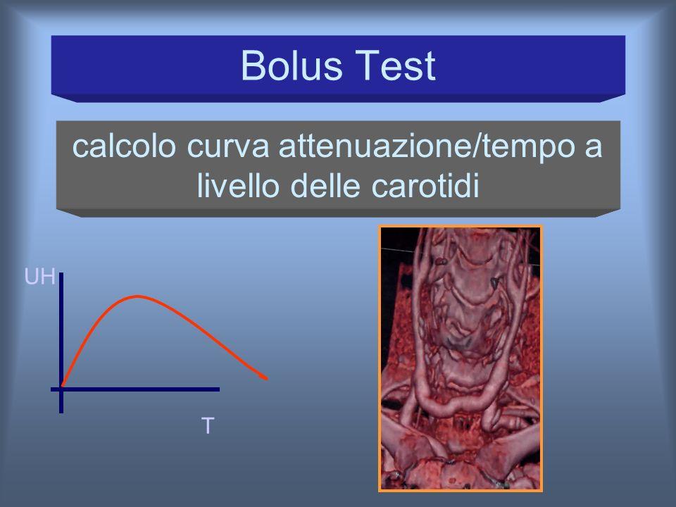 calcolo curva attenuazione/tempo a livello delle carotidi