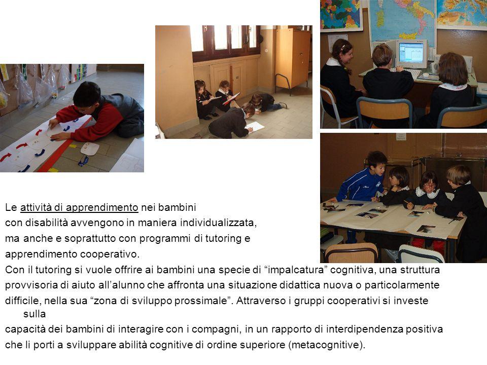 Le attività di apprendimento nei bambini