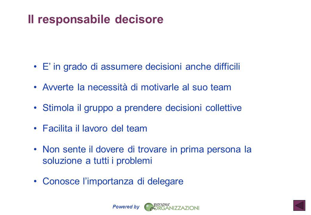 Il responsabile decisore
