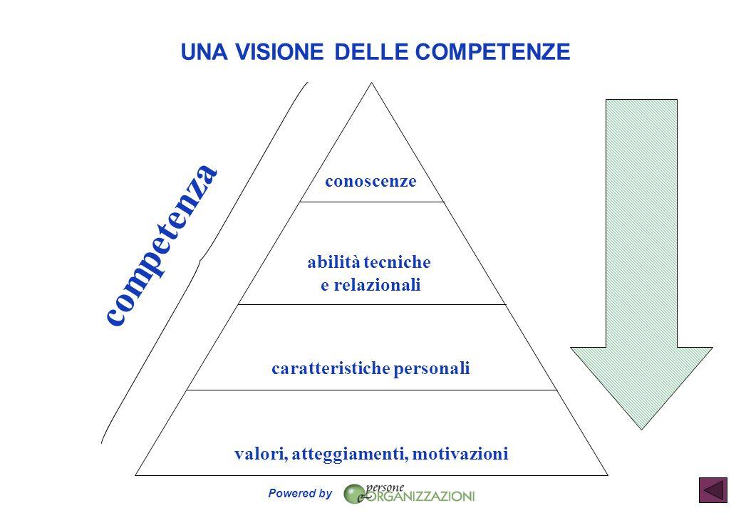 caratteristiche personali valori, atteggiamenti, motivazioni