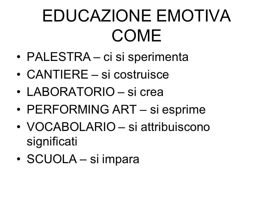 EDUCAZIONE EMOTIVA COME