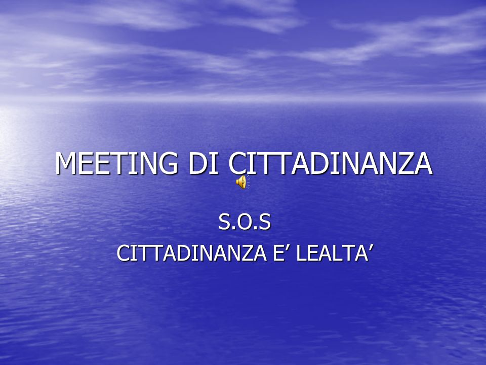 MEETING DI CITTADINANZA