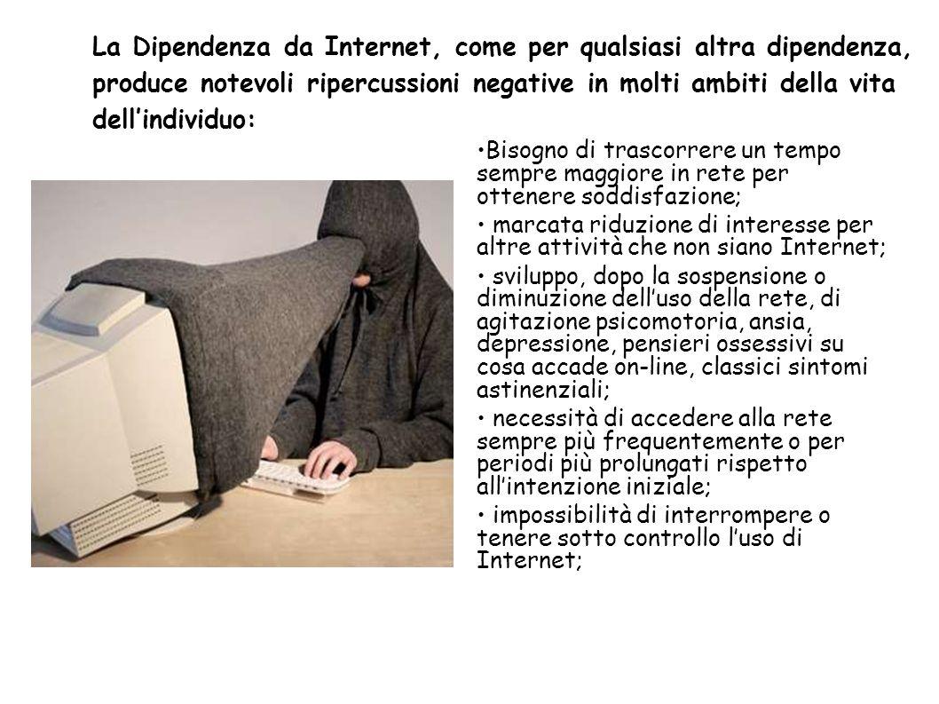 La Dipendenza da Internet, come per qualsiasi altra dipendenza,