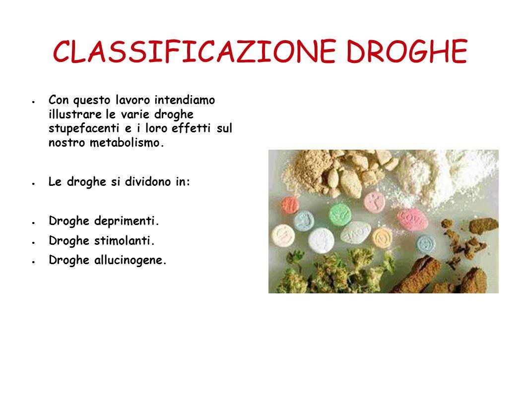 CLASSIFICAZIONE DROGHE