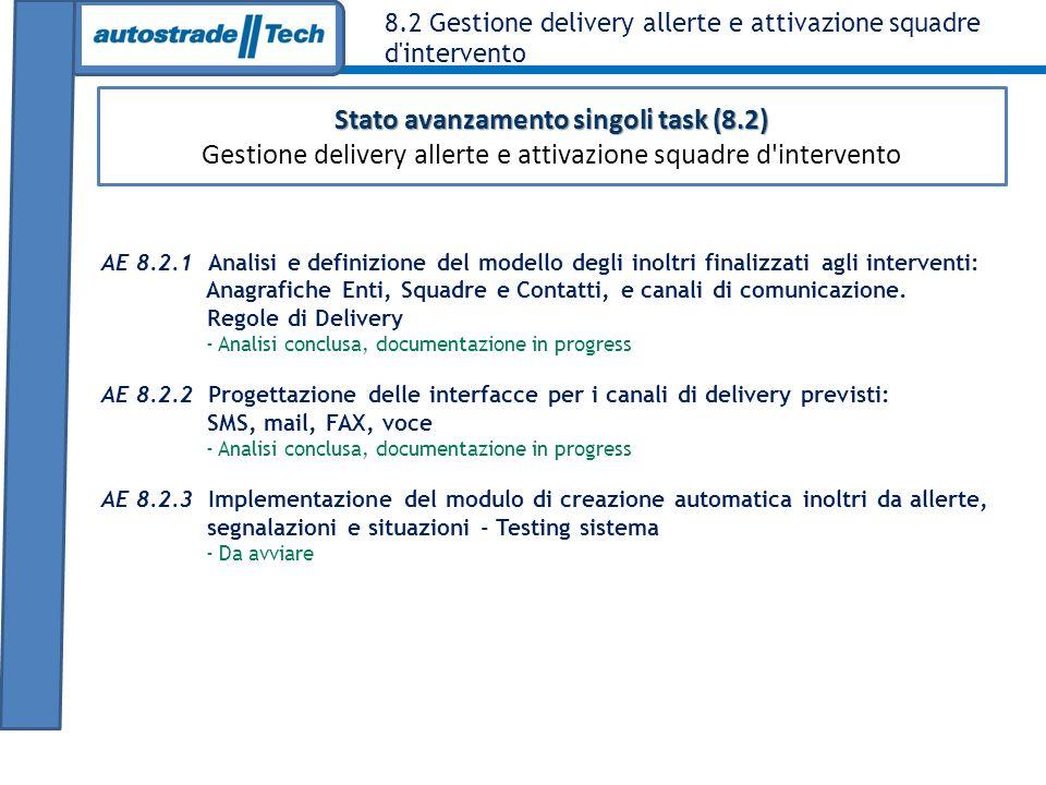Stato avanzamento singoli task (8.2)