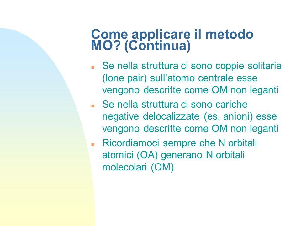 Come applicare il metodo MO (Continua)