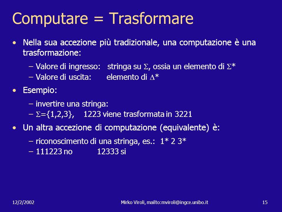 Computare = Trasformare