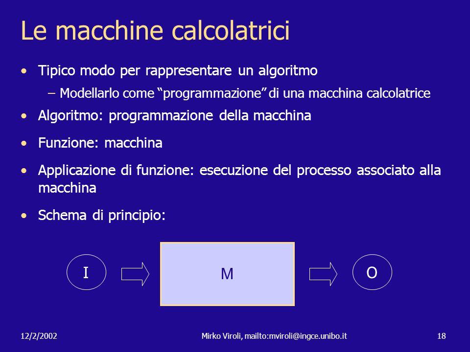 Le macchine calcolatrici
