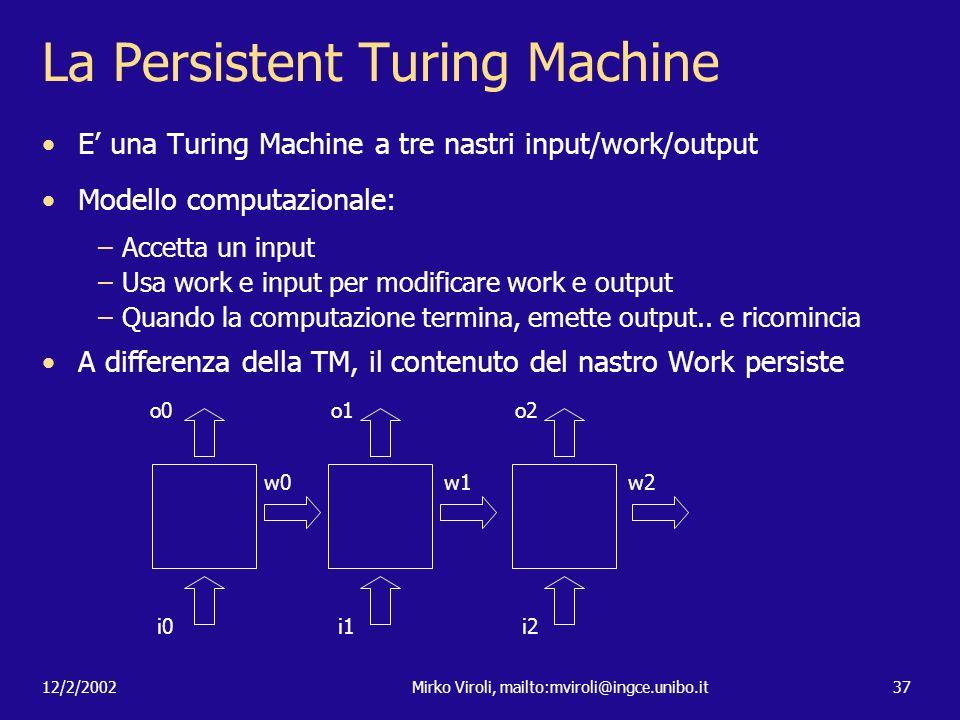 La Persistent Turing Machine