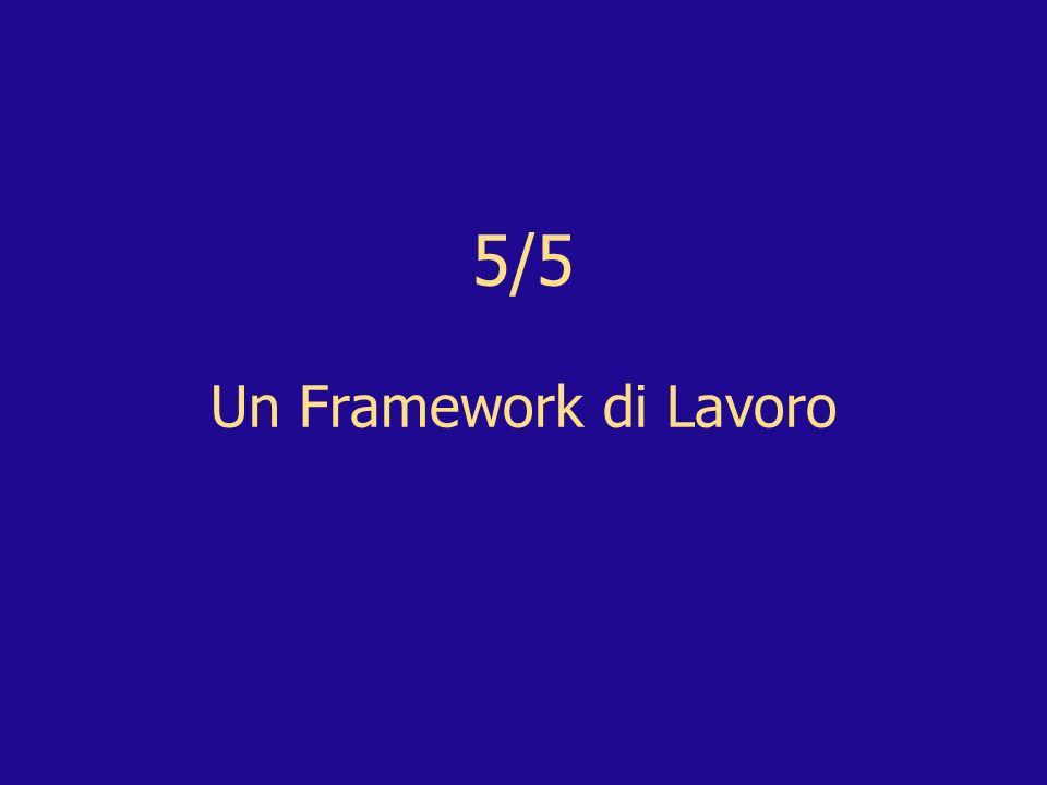 5/5 Un Framework di Lavoro