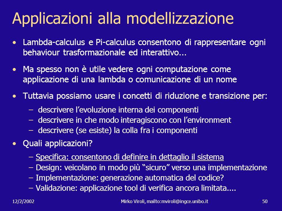 Applicazioni alla modellizzazione