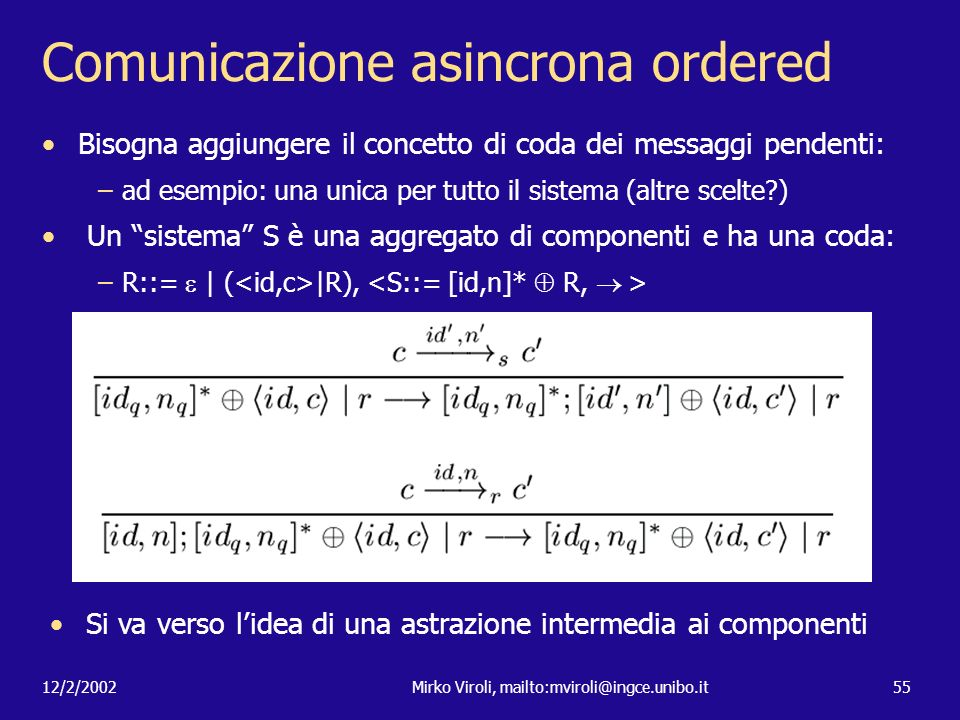 Comunicazione asincrona ordered