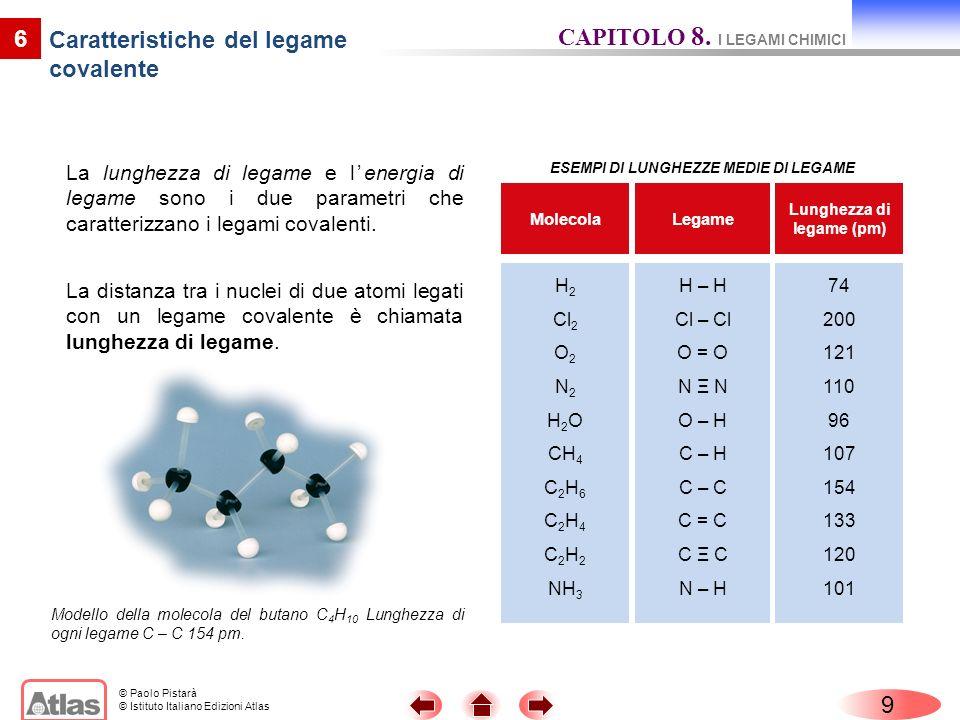 Caratteristiche del legame covalente