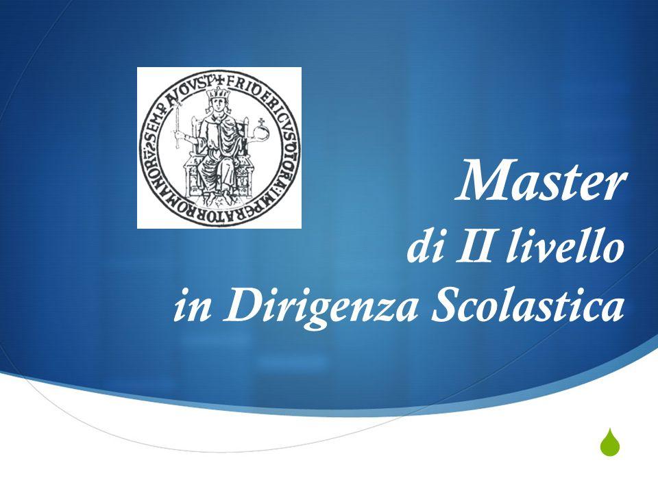 Master di II livello in Dirigenza Scolastica