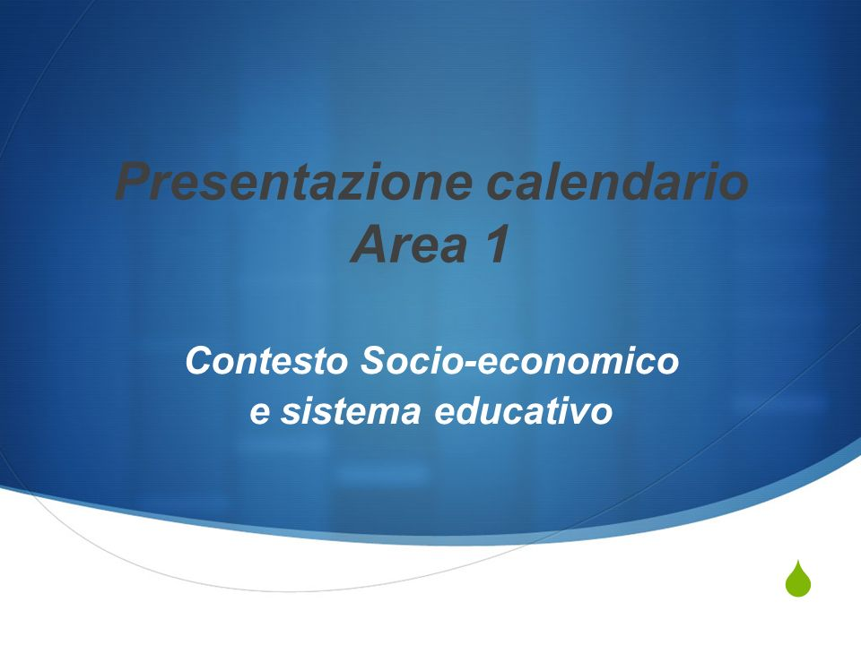 Presentazione calendario Area 1