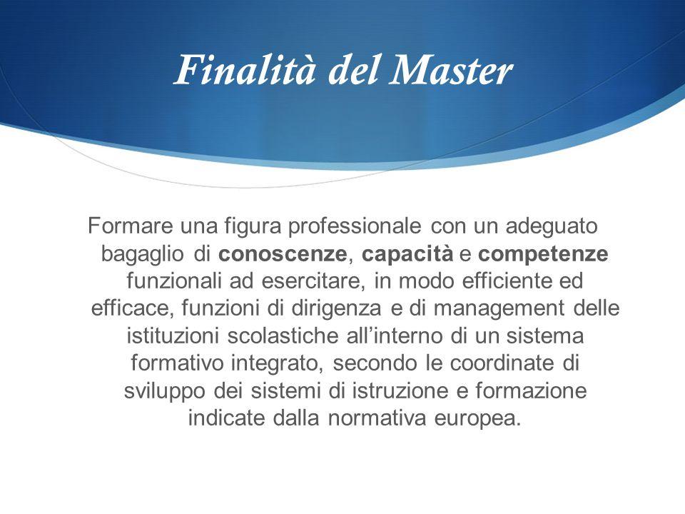 Finalità del Master