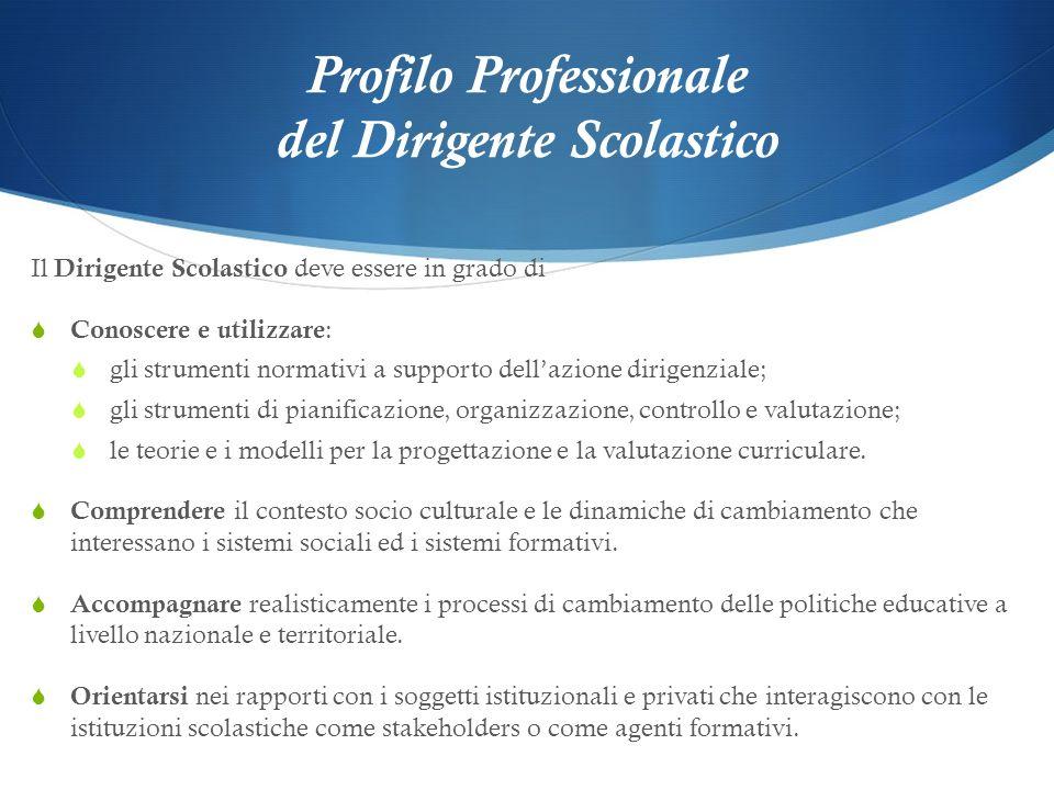 Profilo Professionale del Dirigente Scolastico