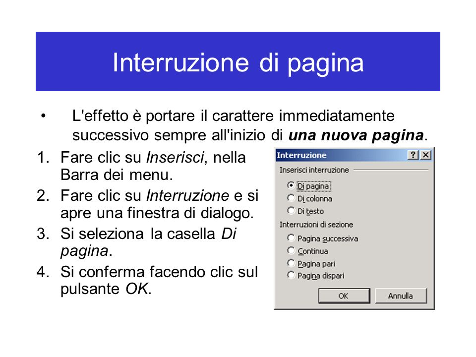 Interruzione di pagina