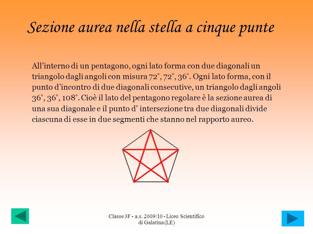 Sezione aurea nella stella a cinque punte