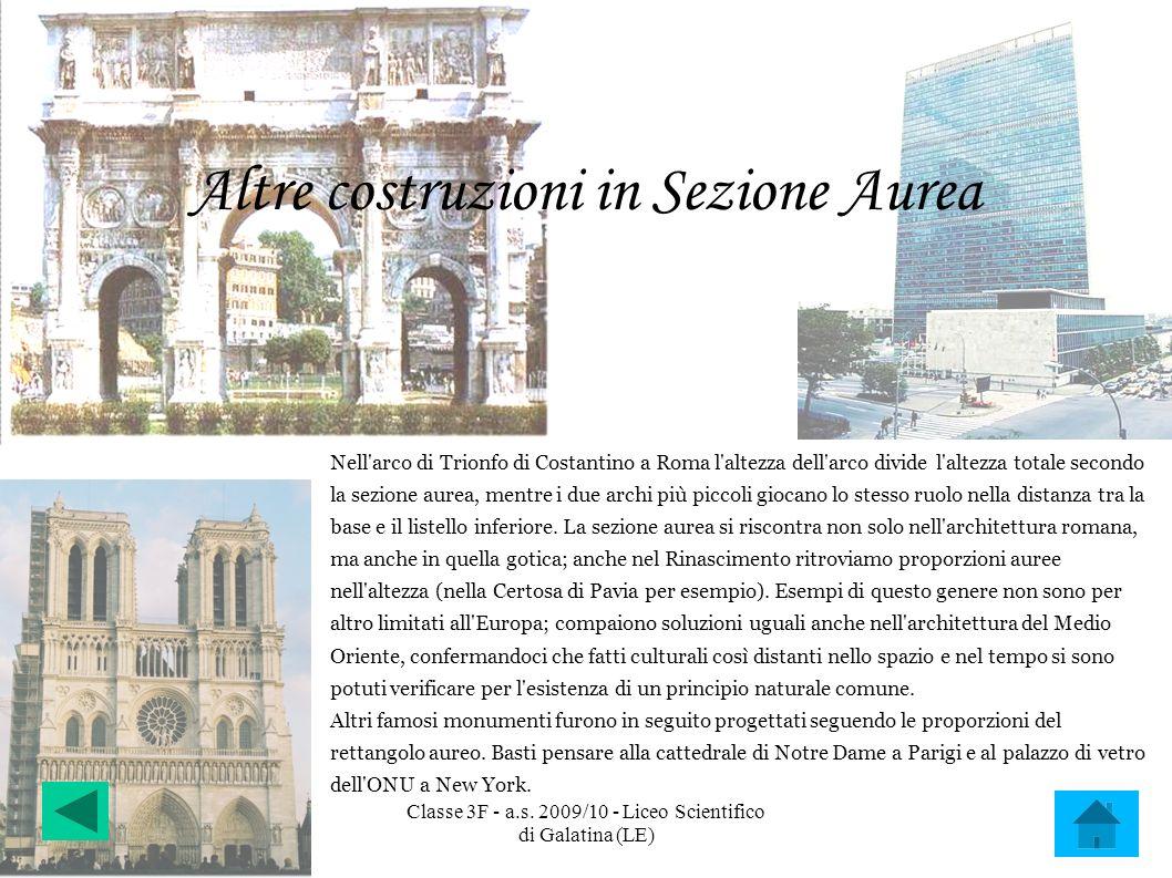 Altre costruzioni in Sezione Aurea
