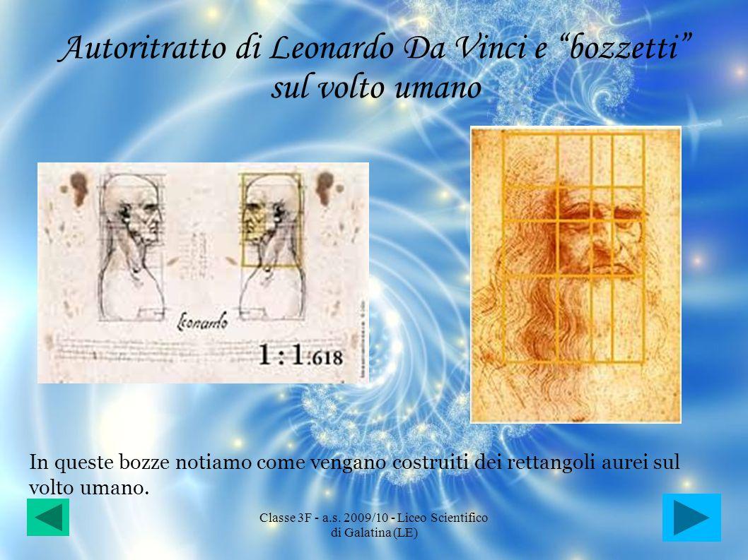 Autoritratto di Leonardo Da Vinci e bozzetti sul volto umano