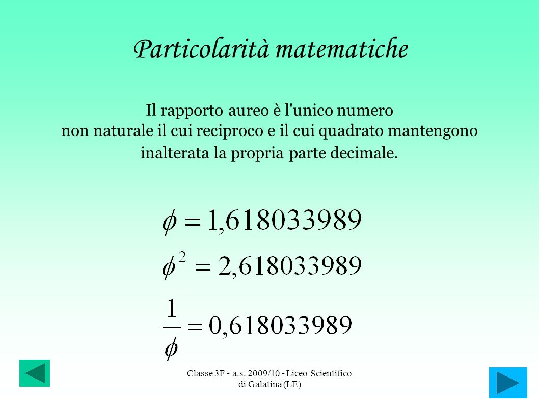 Particolarità matematiche