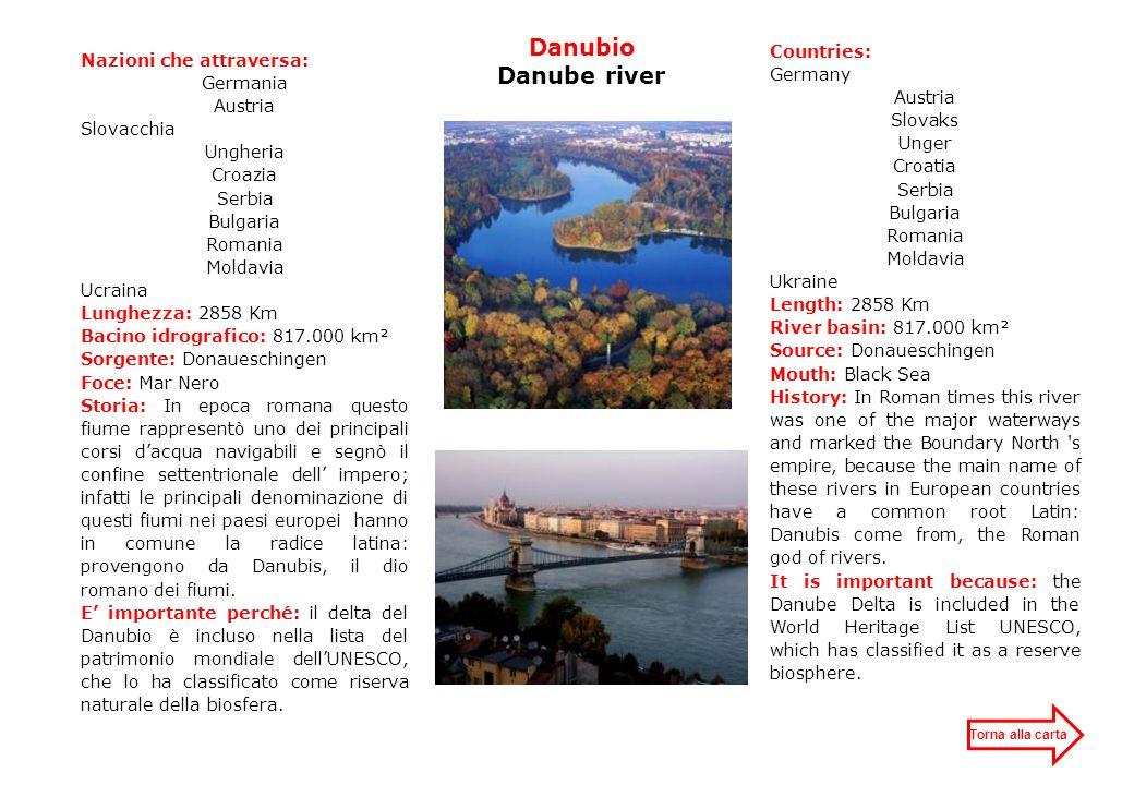 Danubio Danube river Countries: Nazioni che attraversa: Germany