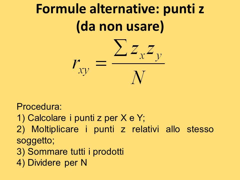 Formule alternative: punti z (da non usare)