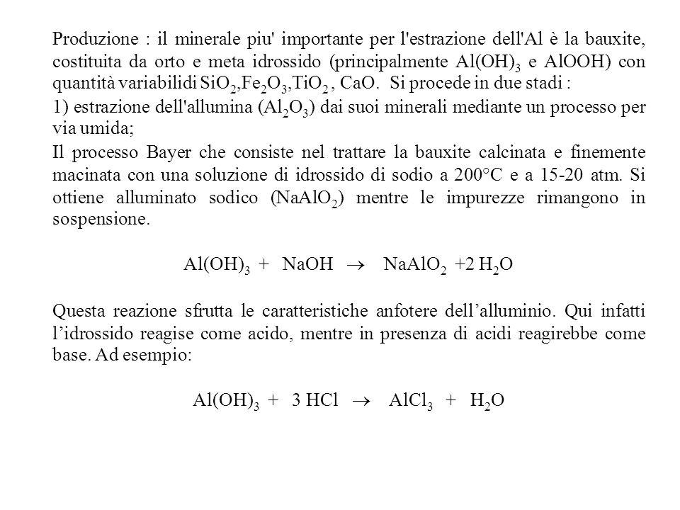 Al(OH)3 + NaOH  NaAlO2 +2 H2O