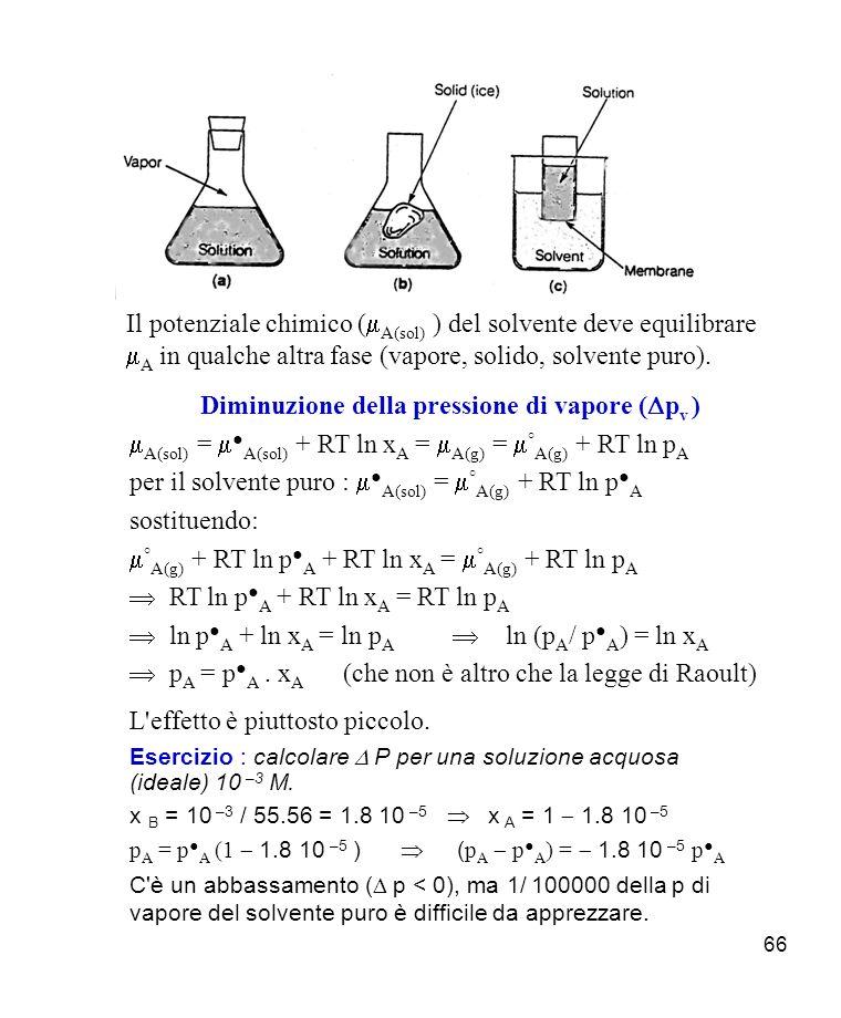 Diminuzione della pressione di vapore (Dpv )