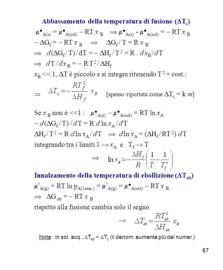 Abbassamento della temperatura di fusione (DTc)