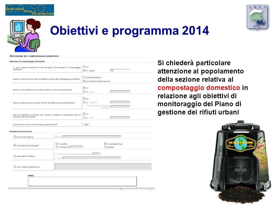 Obiettivi e programma 2014