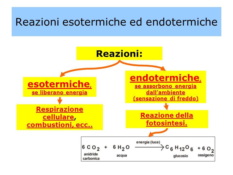 Reazioni esotermiche ed endotermiche