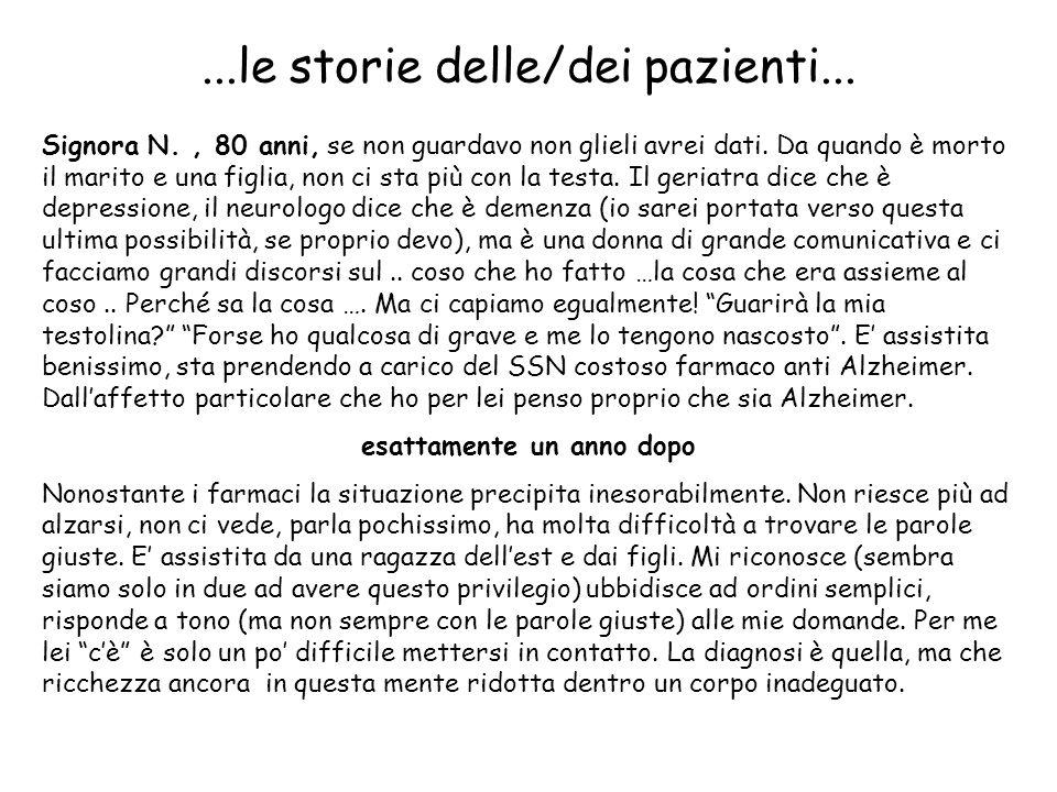 ...le storie delle/dei pazienti...