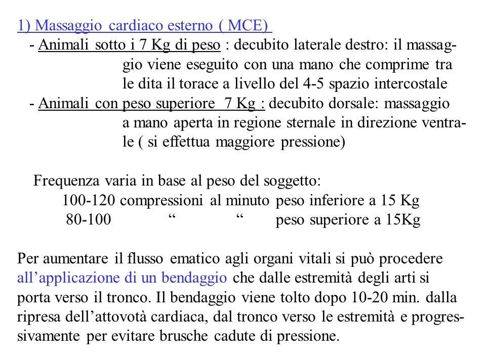 1) Massaggio cardiaco esterno ( MCE)