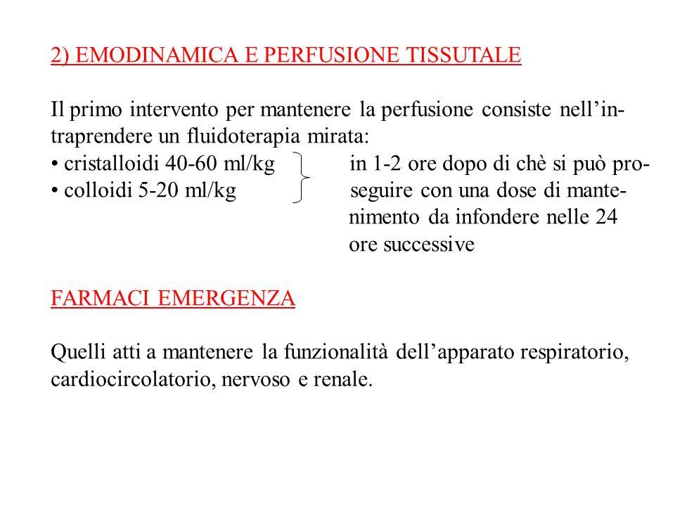 2) EMODINAMICA E PERFUSIONE TISSUTALE