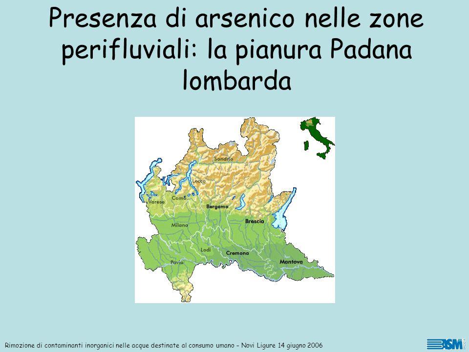 Presenza di arsenico nelle zone perifluviali: la pianura Padana lombarda