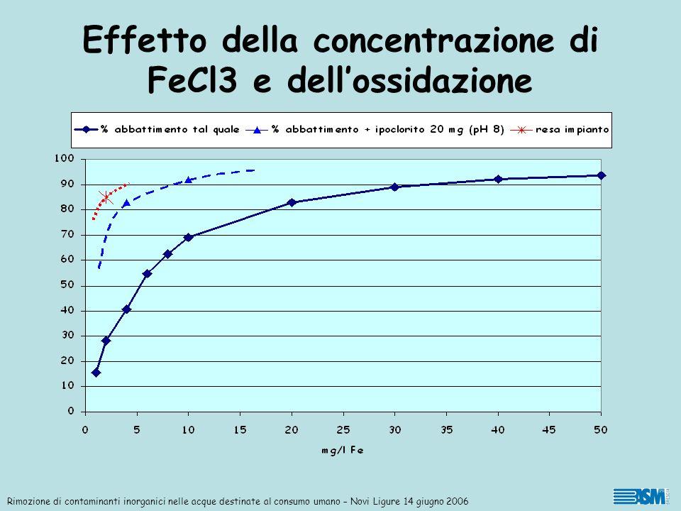 Effetto della concentrazione di FeCl3 e dell'ossidazione