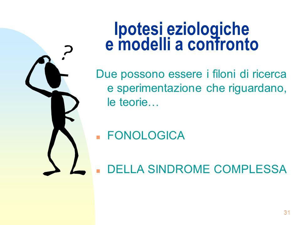 Ipotesi eziologiche e modelli a confronto