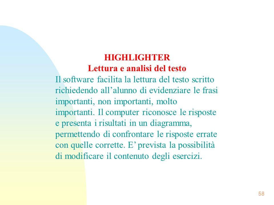 Lettura e analisi del testo