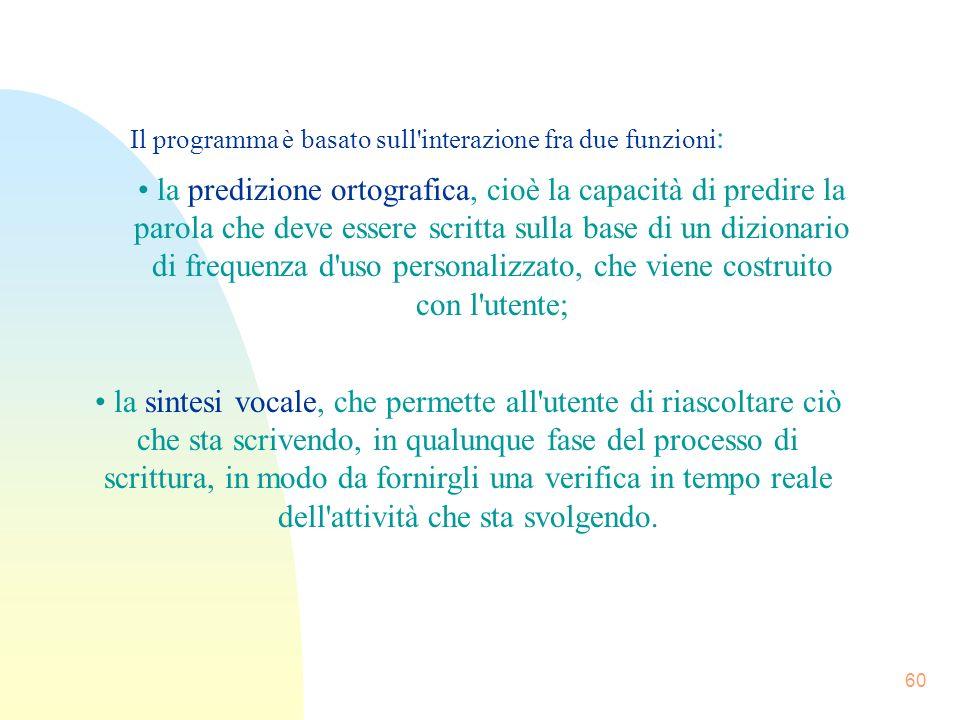 Il programma è basato sull interazione fra due funzioni: