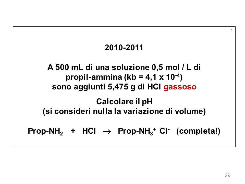 A 500 mL di una soluzione 0,5 mol / L di